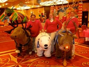 moose,polar bear and reindeer ride